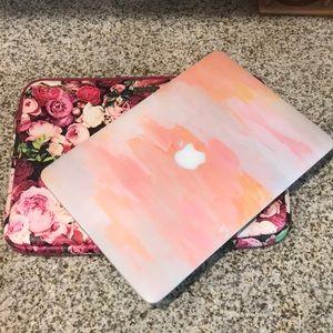 """Kate Spade Roses 13"""" Macbook Pro Laptop Sleeve"""